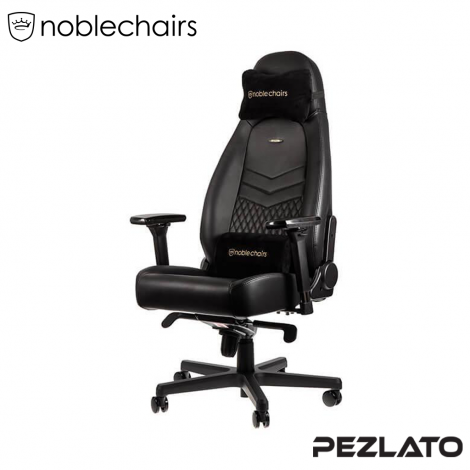 noblechairs ICON real leather Gaming Chair black (หนังแท้)