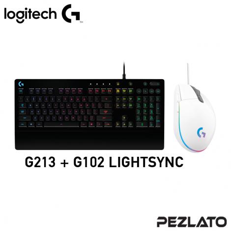 Logitech SET G213+102 LIGHTSYNC (White)