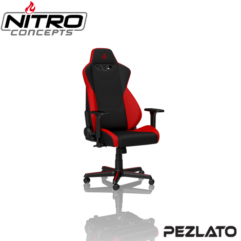 Nitro Concepts S300 Gaming Chair Fabric Black/Red