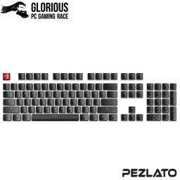 Glorious ABS Mechanical Keycaps 104 key (US)(Black)