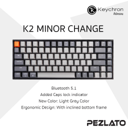 Keychron K2 V2 Wireless Mechanical Keyboard (Brown TH/ENG) (Light Grey Color)