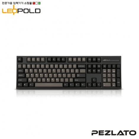 Leopold FC900R/EDPD Graphite/White PD (Borwn Switch)