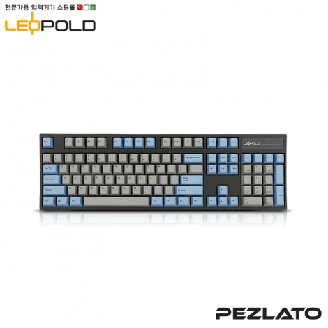Leopold FC900R/EGBPD Grey/Blue PD (Silent Red Switch)