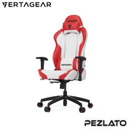 Vertagear S-Line SL2000 White Edition Gaming Chair (White/Red)