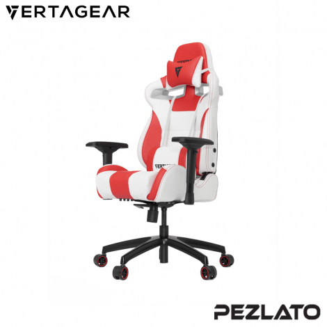 Vertagear S-Line SL4000 White Edition Gaming Chair (White/Red)