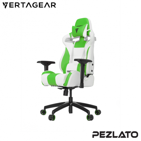 Vertagear S-Line SL4000 White Edition Gaming Chair (White/Green)