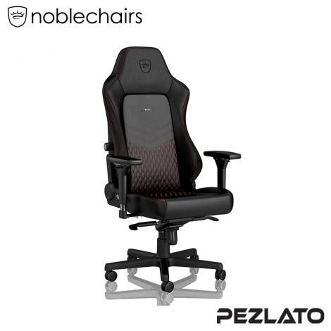 (มีบริการส่งด่วน 4 ชม) Noblechairs HERO REAL Gaming Chair Black/Red (หนังแท้)