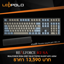 Leopold RealForce R2SA GreyBluel/ Topre Silent APC 45g SW