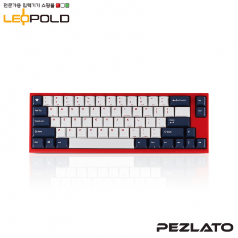 Leopold FC660MS WhiteBlue Red Case PD/SILENT RED SW