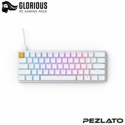 Glorious GMMK Compact Mechanical Keyboard PreBuilt (US)(BRW SW) (WHITE)