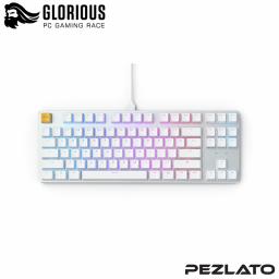 Glorious GMMK TKL Mechanical Keyboard PreBuilt (US)(BRW SW) (WHITE)