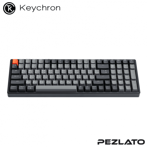 Keychron K4 V.2 Aluminum RGB Backlight Hot-Swappable Light Grey (Red SW)(TH)