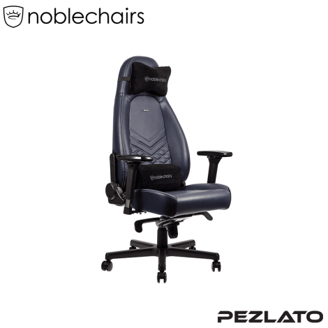 noblechairs ICON Real Leather Midnight/Blue Graphite (หนังแท้)