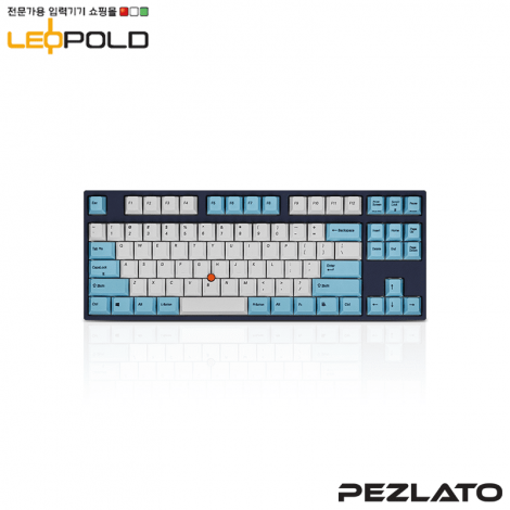 Leopold FC750R Stickpoint White/Skyblue PS / Silent Red SW