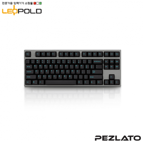 Leopold FC750R Charcoal/Blue Font PD / Blue SW