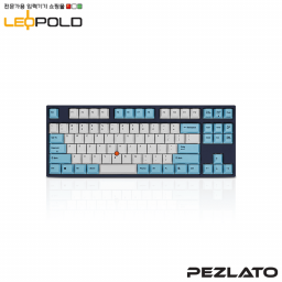 Leopold FC750R Stickpoint White/Skyblue PS / Red SW