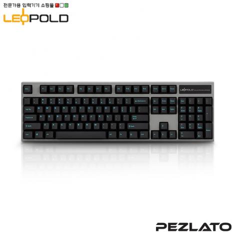 Leopold FC900R Charcoal/Blue Font PD /Blue SW